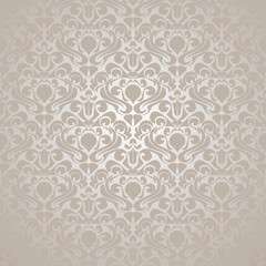 Seamless Silvery wallpaper