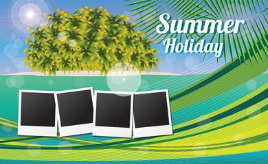 Summer holiday card