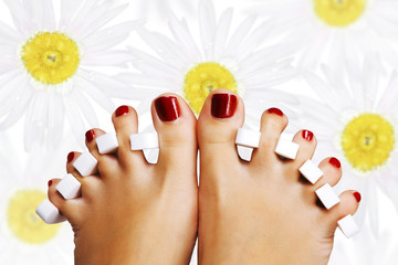 Wall Mural - Pedicure in the spa salon