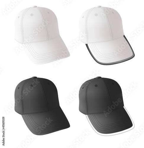 Blank baseball cap template.\