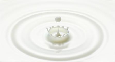 d drop creatmilk drop ripple and splash in crown shape