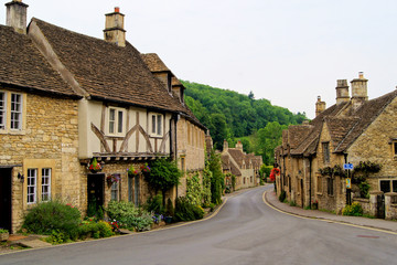 Wall Mural - Quaint town of Castle Combe in the Cotswolds of England