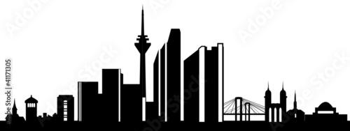 d sseldorf skyline stockfotos und lizenzfreie vektoren auf bild 41171305. Black Bedroom Furniture Sets. Home Design Ideas
