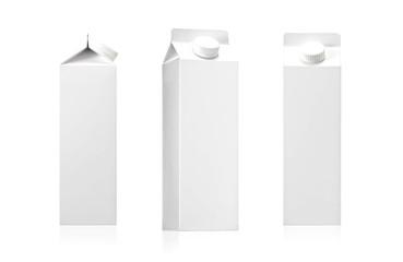 White Blank milk or juice pack