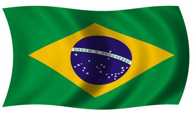 Brazil flag in wave