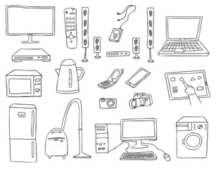 household technics vector set