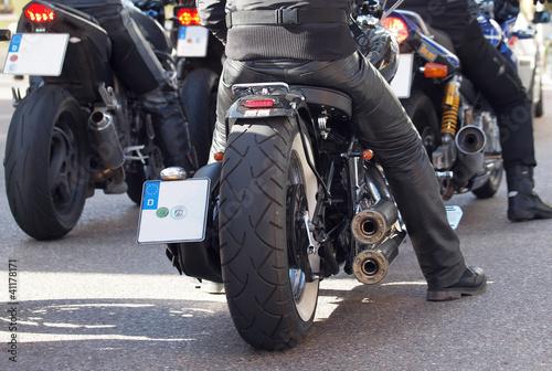 Fototapete Motorradfahrer
