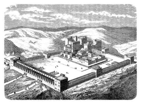 Salomon'sTemple - Reconstruction 19th century