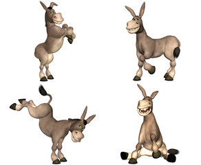 Donkey Cartoon Pack - 1of2