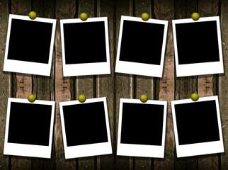 8 polaroid frames