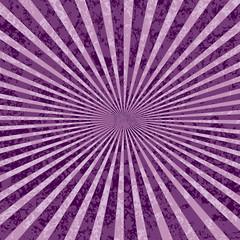 Poster de jardin Psychedelique purple rays burst