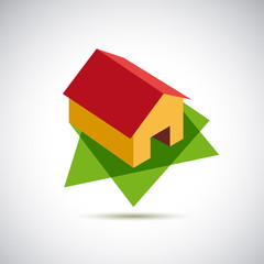 Logo red house # Vector