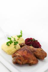 Obiad - Pieczony kurczak