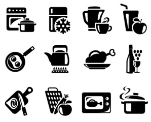 Kitchen and cooking icon set