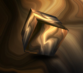 Abstract cube object