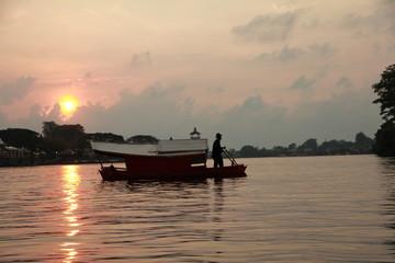Boatman in Borneo