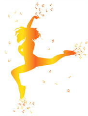 Airy dancing girl