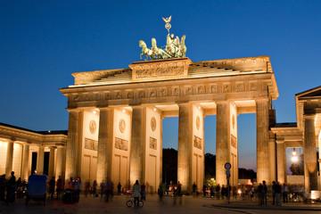 Brandenburger Tor in Berlin bei Nacht, Brandenburg Gate