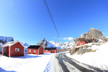 Magic village of Lofoten Islands