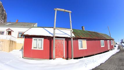 Hamnøy's houses  in wintertime