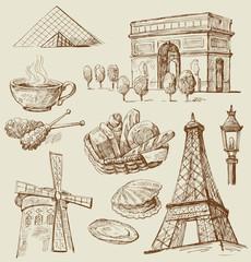 Paris - hand drawn collection