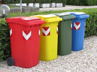 Recycling trash bins