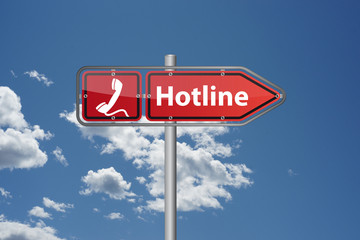 Hotline anrufen!