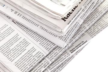 Fotobehang Kranten Stapel von Zeitungen