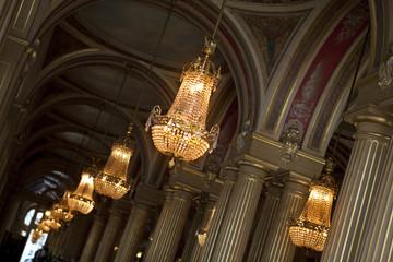 Palais, luxe, opéra, lustre, luminaire, style, français