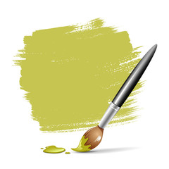 Paint brush. green space your text, vector