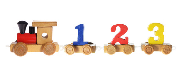 Wooden Toy with Numbers
