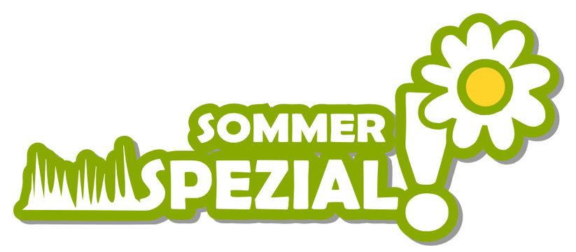 Label 2d Sommer Spezial mit Blume
