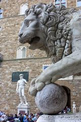 Wall Mural - Palazzo Vecchio - David et lion