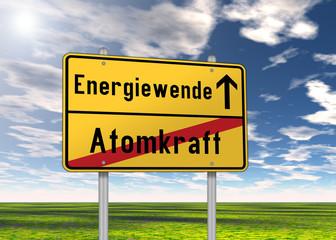 """Ortsschild """"Energiewende / Atomkraft"""""""