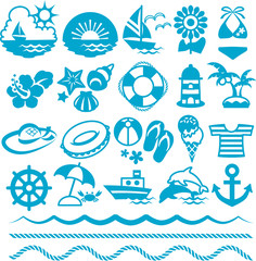 Set of the summer icon