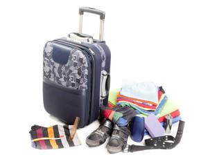 preparing luggage