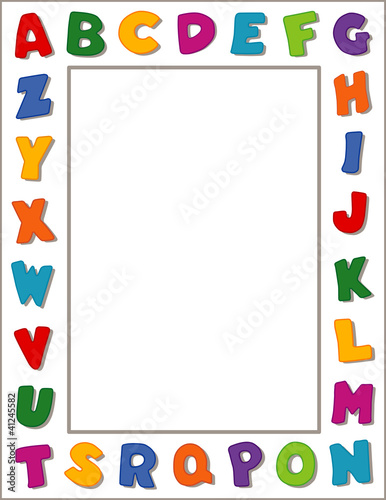 Alphabet Frame, copy space, posters, school, daycare, education ...