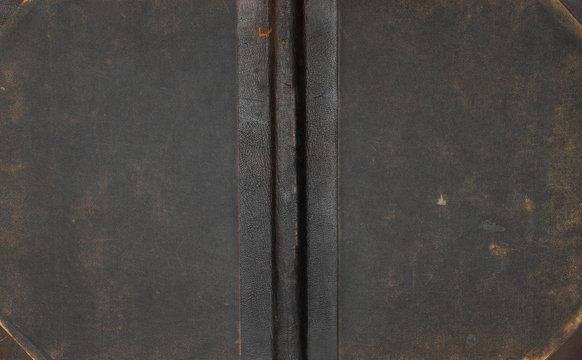 Antique leather book cover.