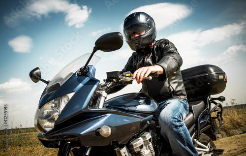 Fototapete Biker