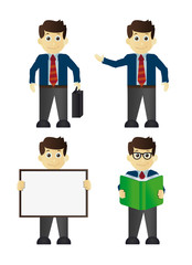 Businessman cartoon office vector