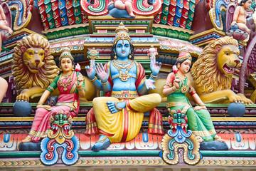 Foto op Plexiglas Singapore Hindu temple in Singapore