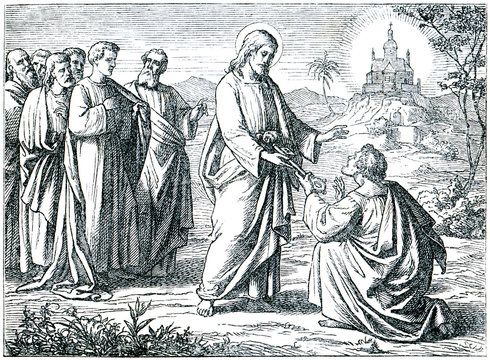 Christ Giving the Keys of Paradise to St. Peter