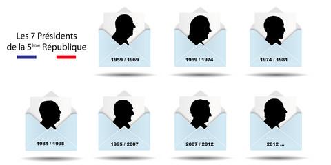 Les 7 présidents de la 5ème république