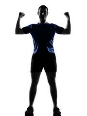 Wall Mural - man exercising workout