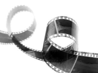 Old 35 mm film strip close up.
