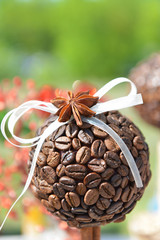 Coffee marble with anise and ribbon