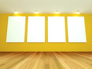 Empty room yellow gallery