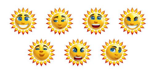 Sun Face Loony Characters