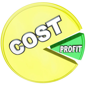 Costs Eating Profits Pie Chart Losing Profitability