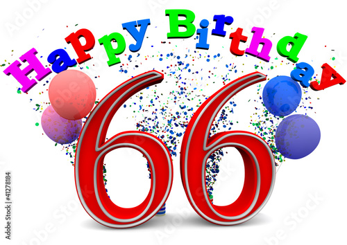 """""""Happy Birthday 66"""" Stockfotos und lizenzfreie Bilder auf ..."""